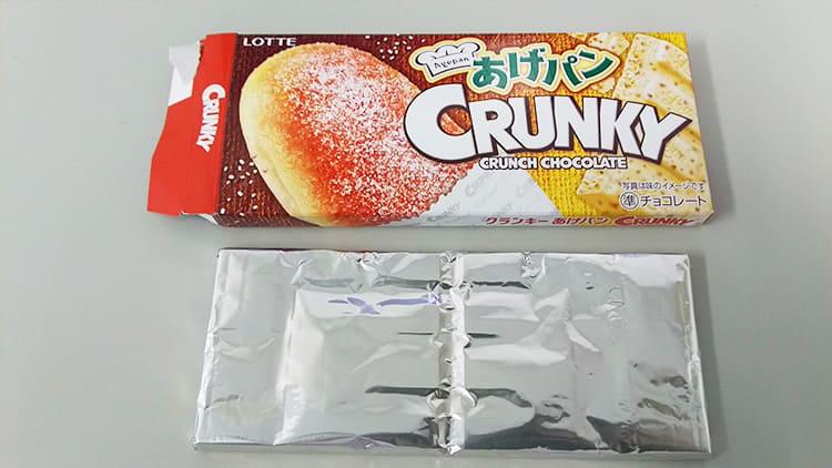 クランキー<あげパン>の箱と中身