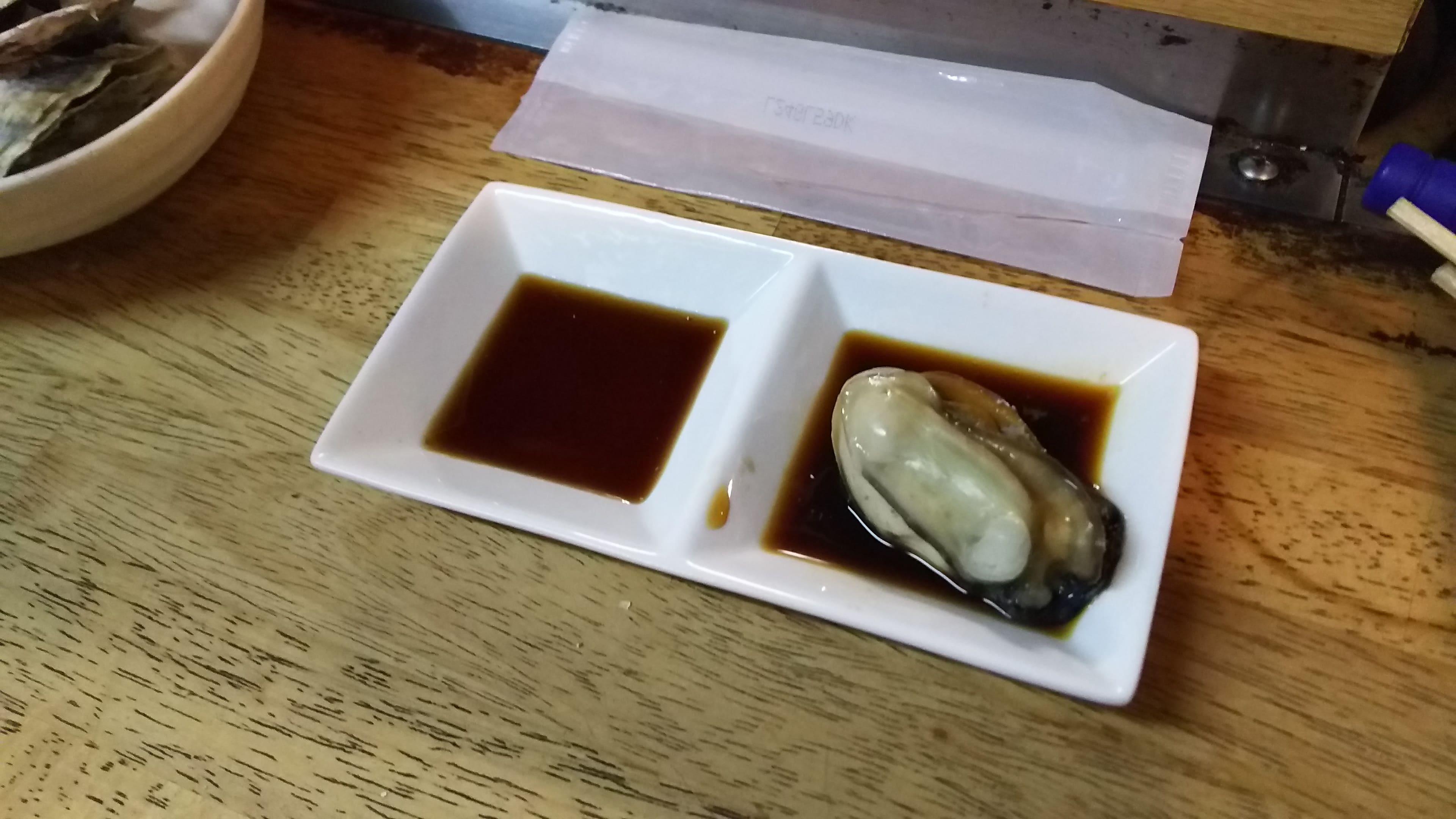牡蠣とポン酢