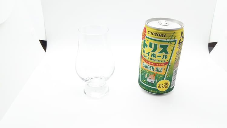 トリスハイボール缶とグレンケアン