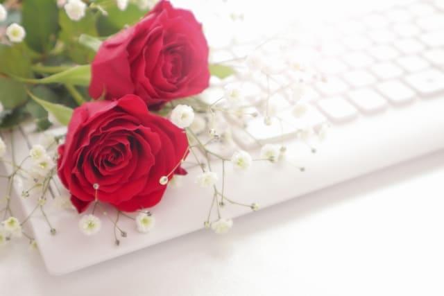 キーボードと薔薇
