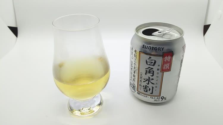 白角水割のホットウイスキー