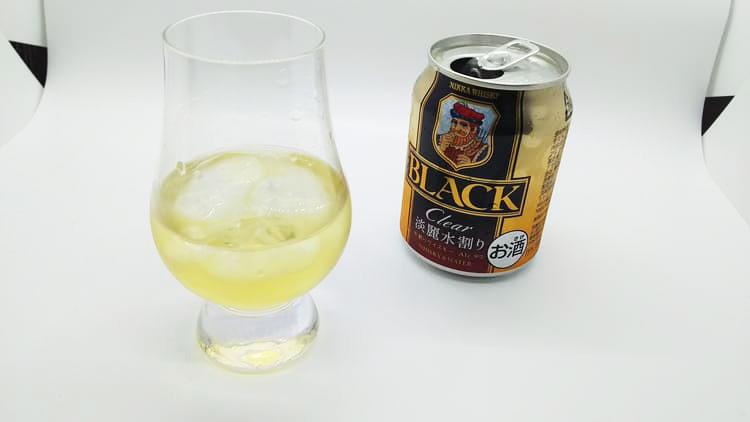 ブラックニッカクリアのハーフロック