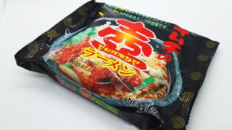 卓上の袋麺
