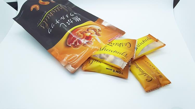 個包装されたカシューナッツ