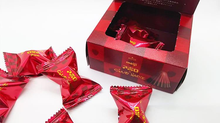お洒落なパッケーージのアポロチョコレート