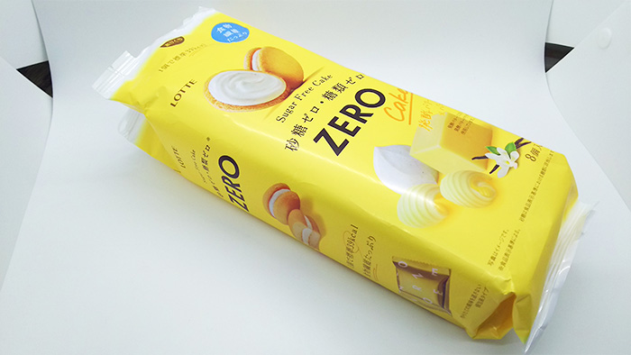 ゼロ シュガーフリーケーキのパッケージ