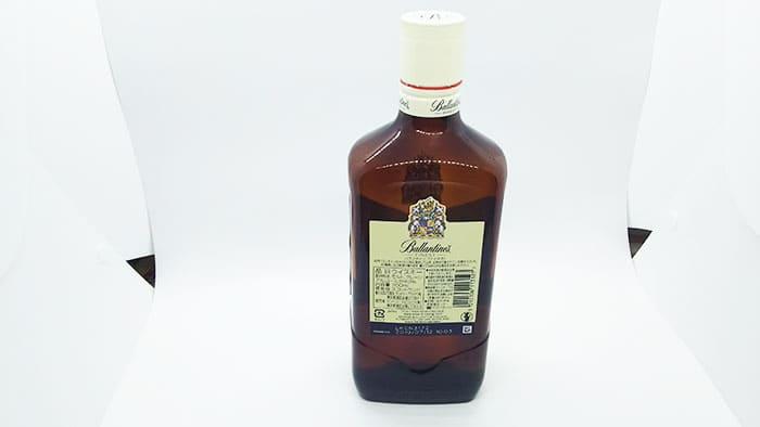 バランタインファイネストのボトル裏