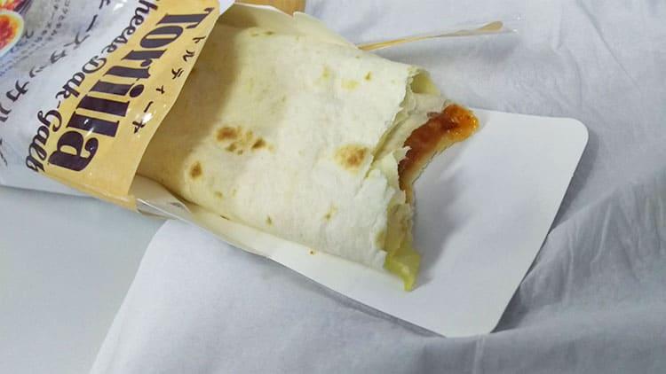 チーズが入ったトルティーヤ