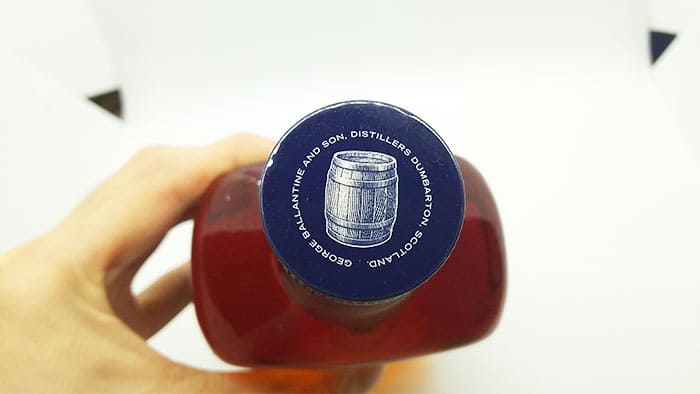 バランタイン バレルスムースのボトルキャップ