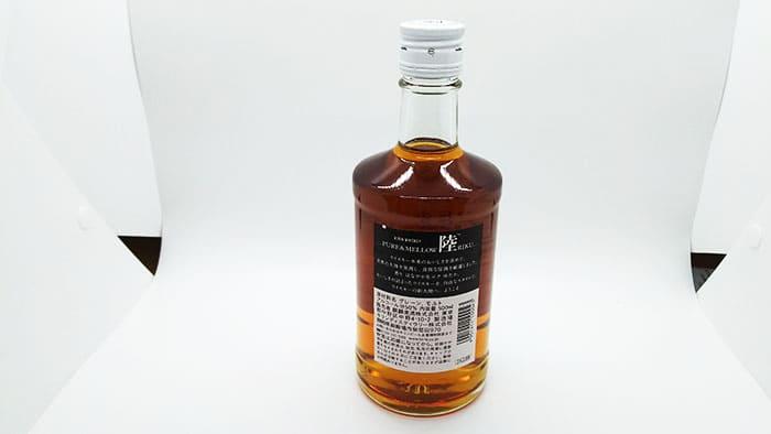 ウイスキー陸のラベル裏