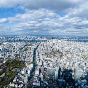 大阪の航空写真
