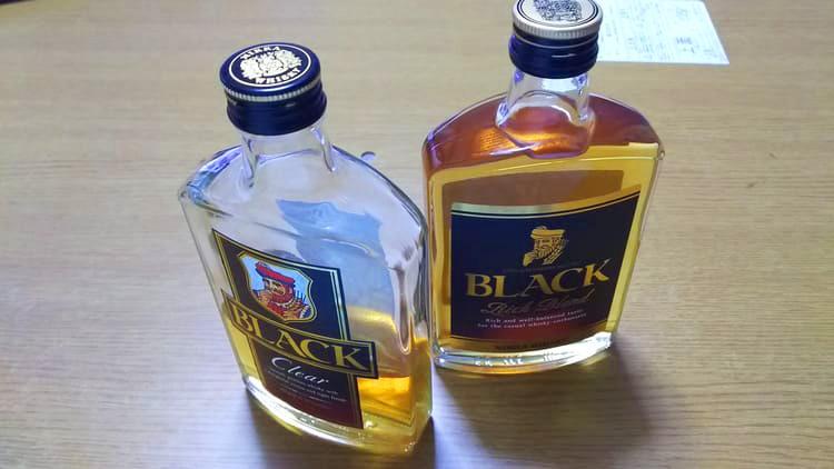 ブラックニッカウイスキーのミニボトル